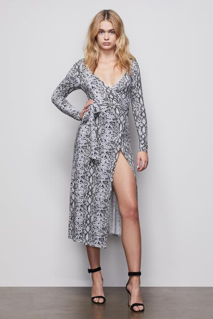 Good American - Run Around Wrap Dress (pyth)