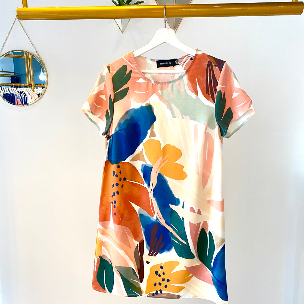 MinkPink - Abstract Foliage Dress