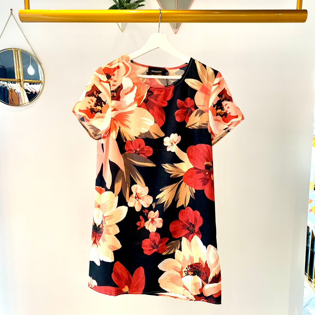 ANNIKA BLOOMS TEE DRESS