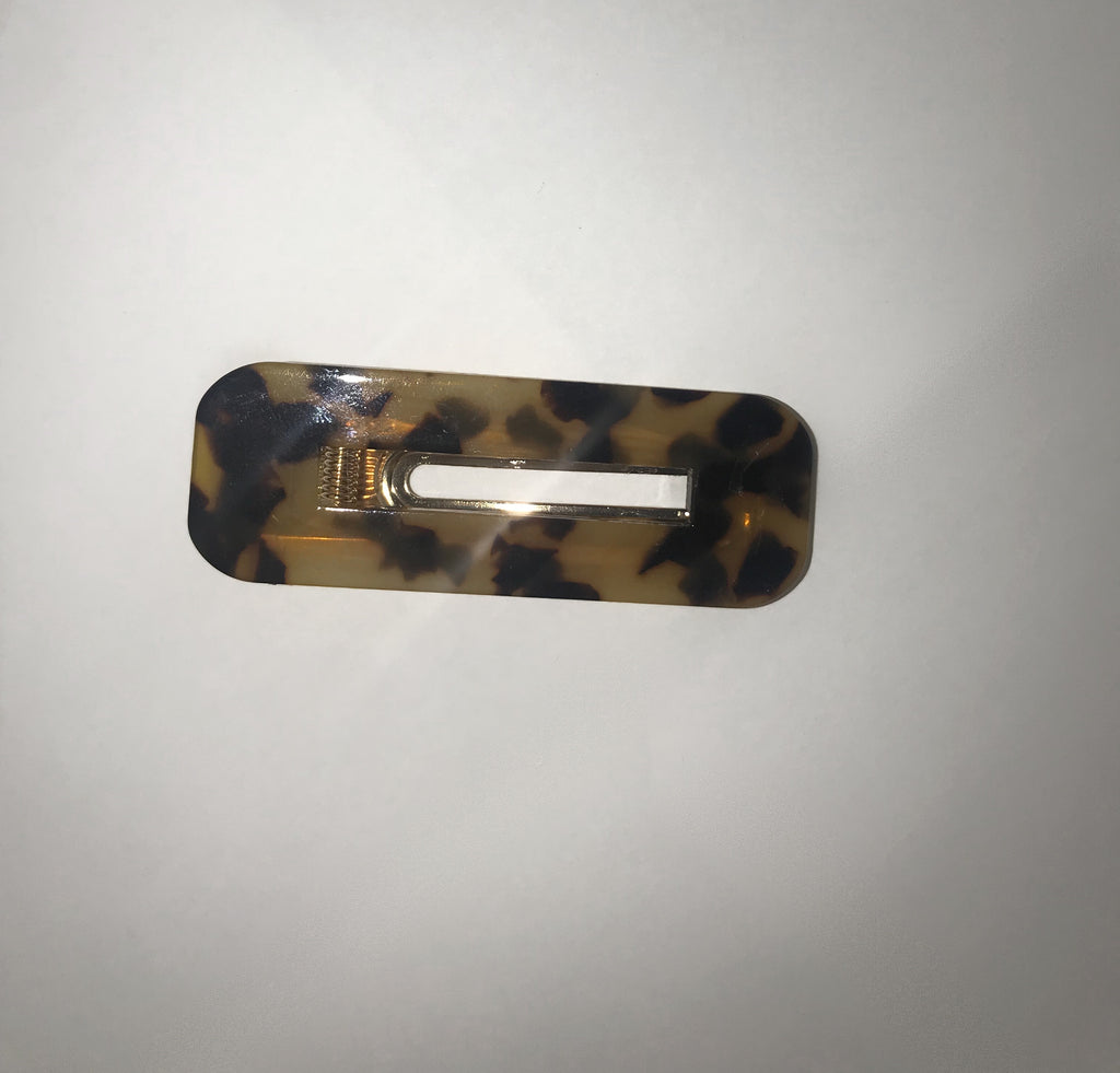 Marble Hair Clips - Cheetah print (Square)