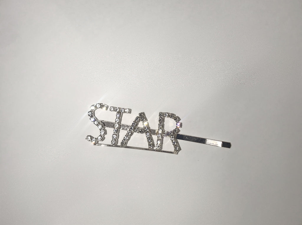 Word Hair Clips - Star