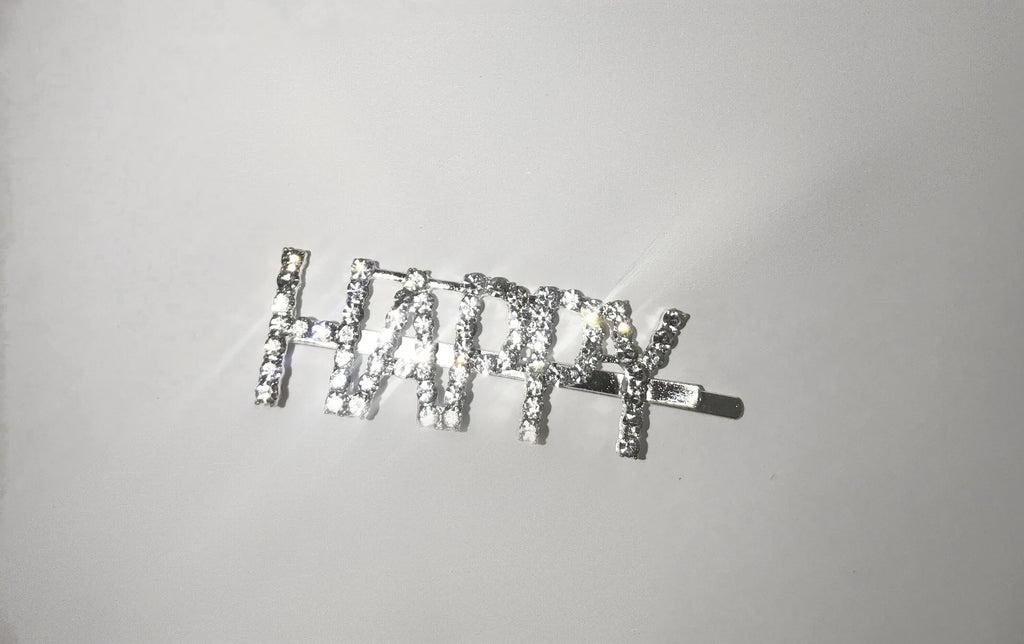 Word Hair Clips - Happy