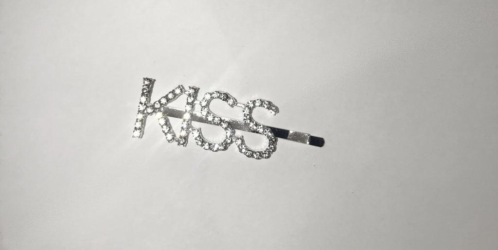 Word Hair Clips - Kiss
