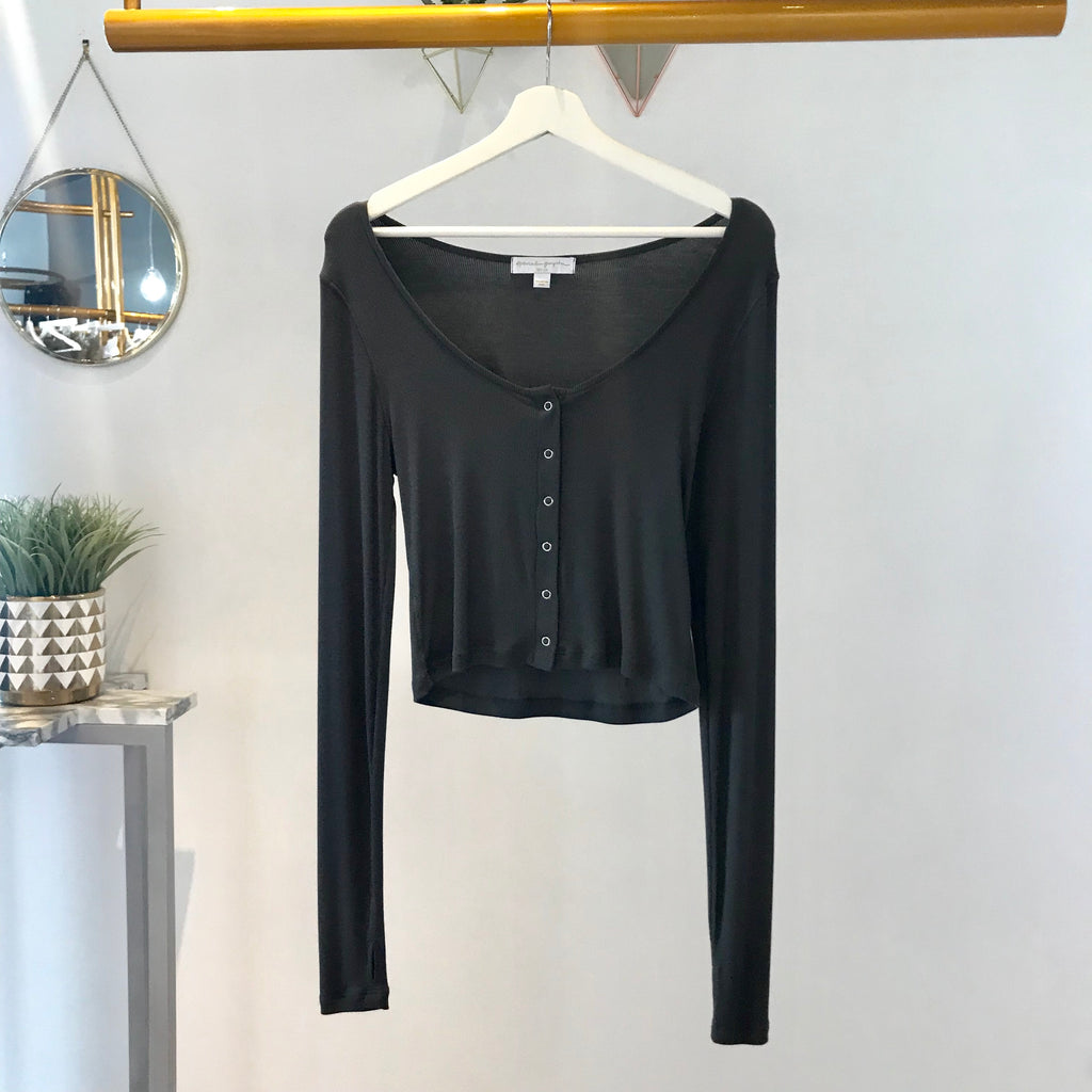SG - Tara Snap Rib Thermal Vintage Black