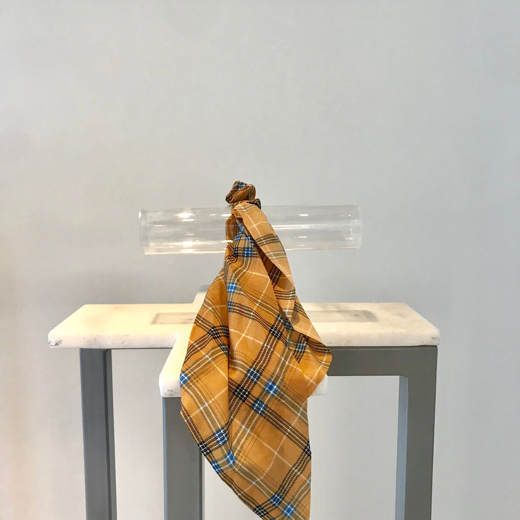 Hair Ribbons - Gold plaid