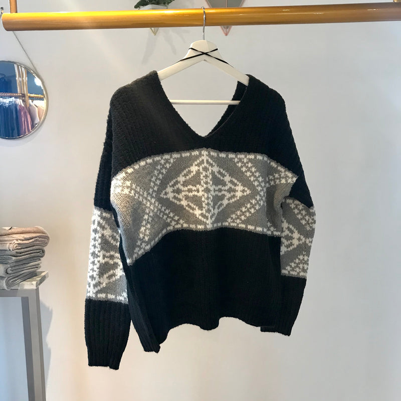 Press - Black Snow Knit