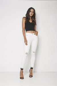 Neon Blonde - Blondie Mid Rise Skinny (white magic)