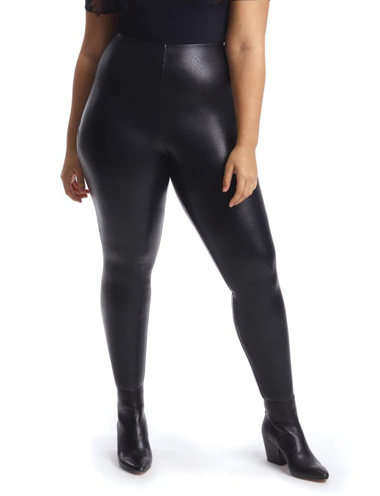 FAUX LEATHER LEGGING (PLUS SIZE) - UNI+KONCEPT