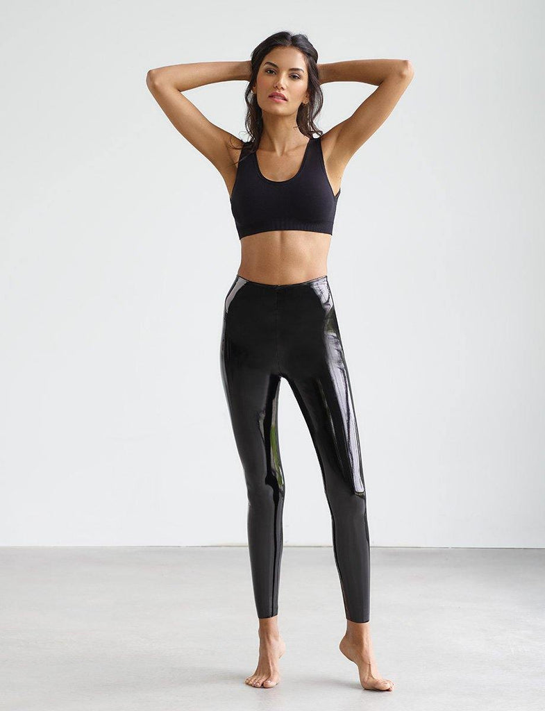 Faux Patent Leather leggings (Black) - UNI+KONCEPT