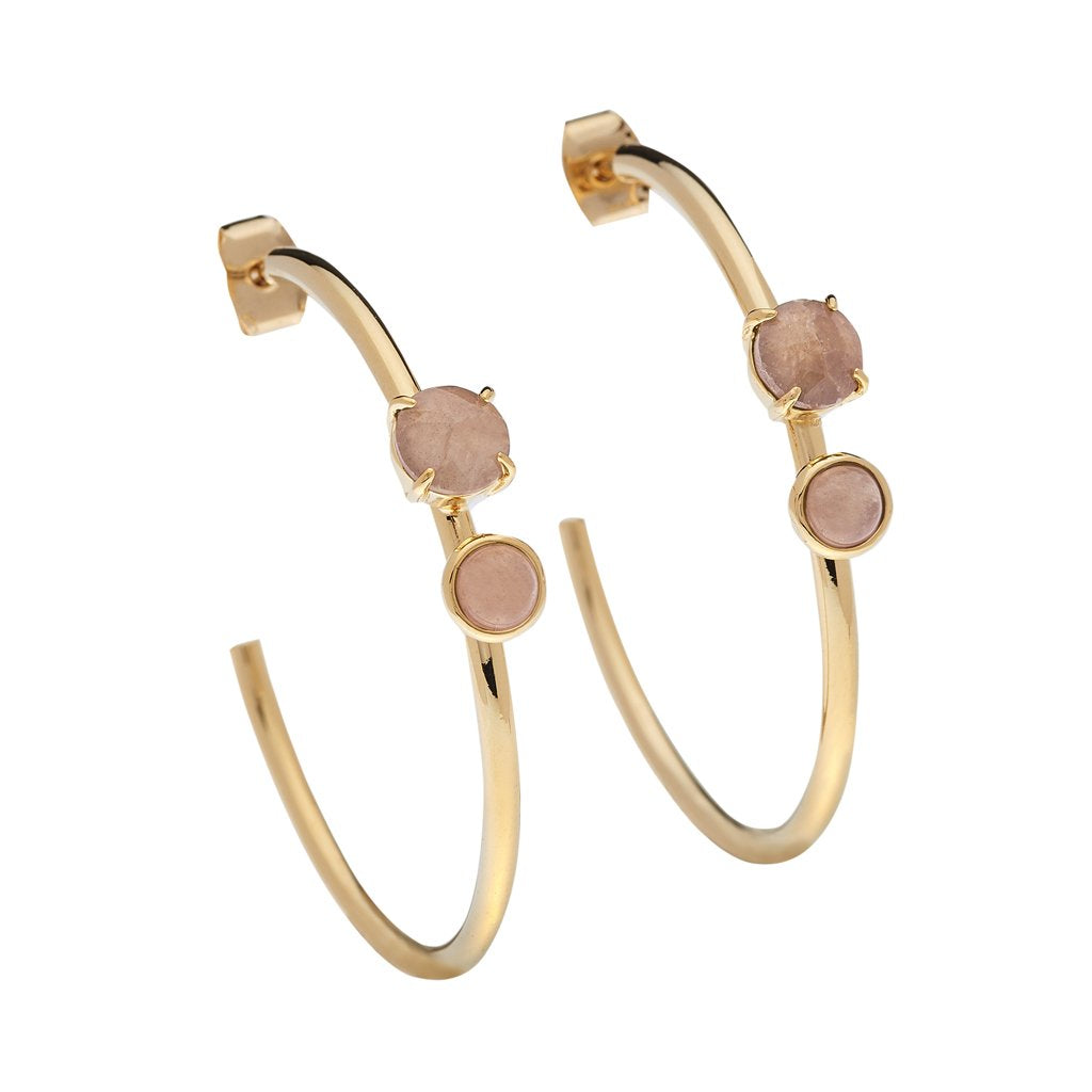 LUV & BART - Roxy Earrings Rose Quartz