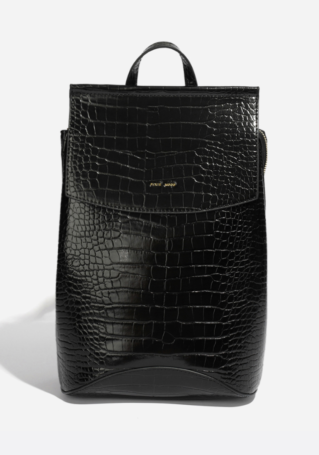 Pixie Mood - Kim Backpack (Black Croc)