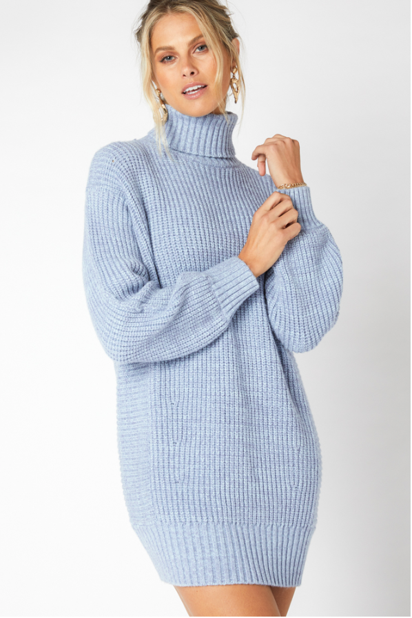 Echoes Knit Dress (Blue)
