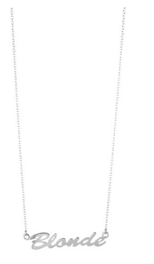 Lisbeth - 'Blonde' Necklace in Sterling Silver
