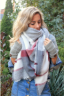 Beautiful Boundaries - Blanket Scarf Candy Cane Plaid