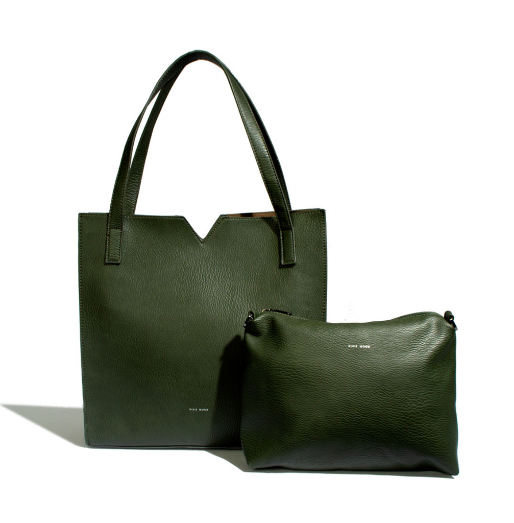 Pixie Mood - Alicia Tote (Pebbled Olive)
