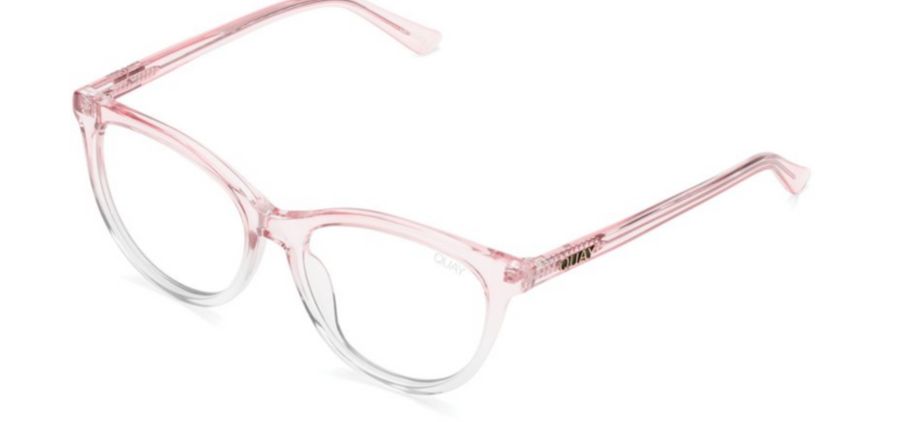 Quay Bluelight blocking lenses - All nighter (Pink Clear/ Clear blt)