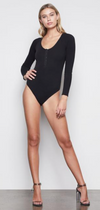 Good American - Feel Good long sleeve bodysuit (black)