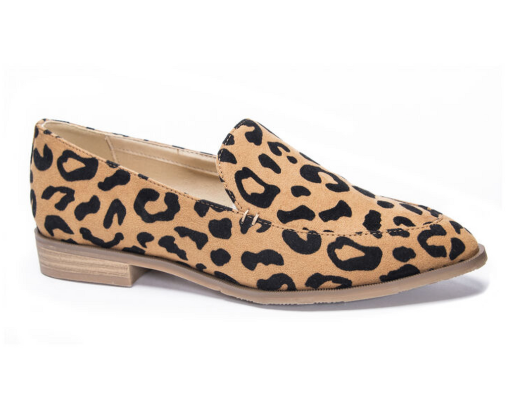 UNIKONCEPT Lifestyle boutique: Image shows the Leopard Loafer by Chinese Laundry. This flat loafer is in a leopard print.