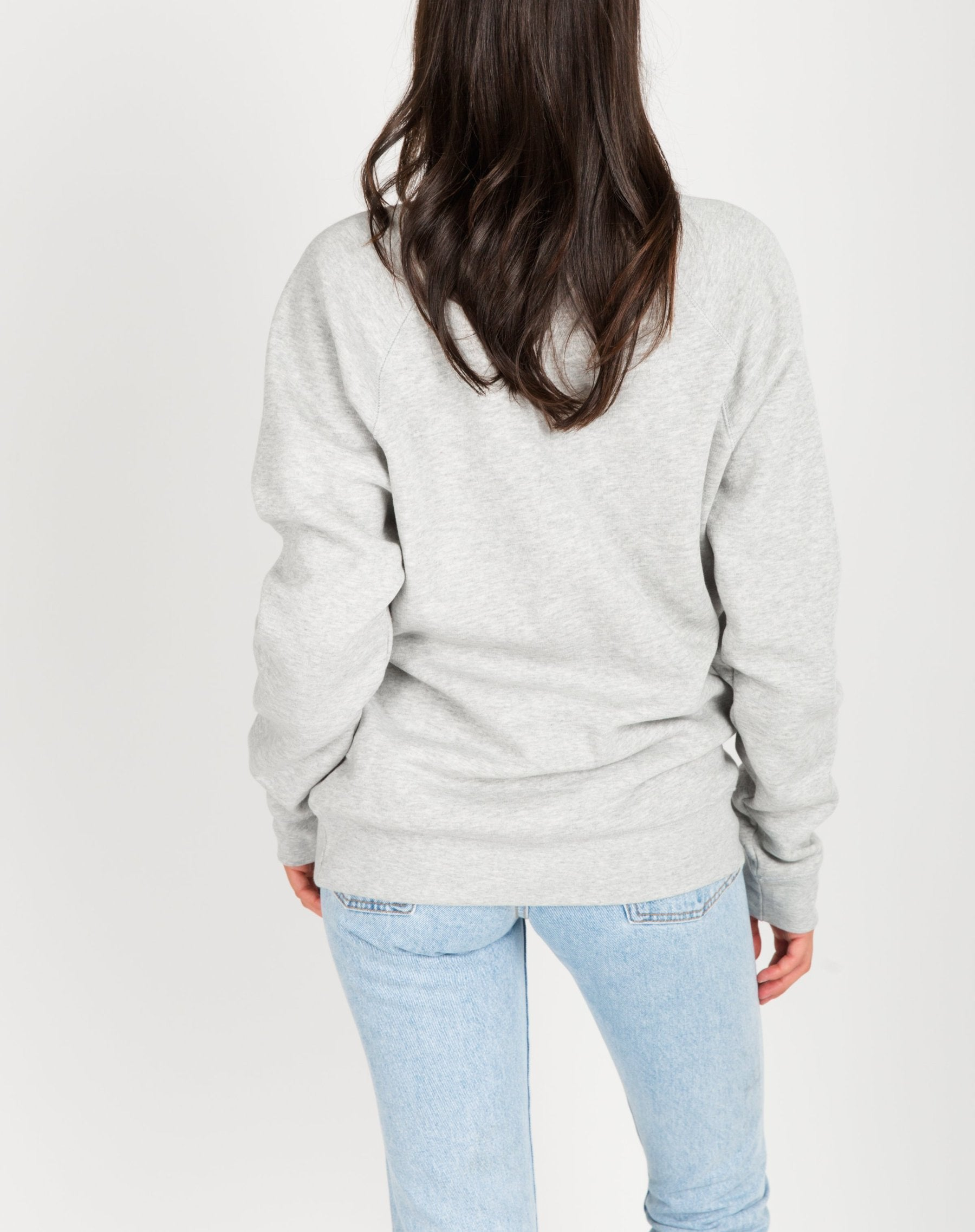 "Brunette The Label - ""Meet Me Apres"" Crew Pebble Grey"