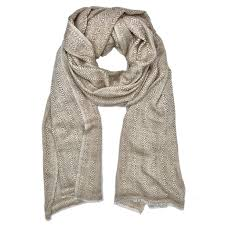 Slate + Salt - Champagne Tapestry Cashmere Scarf