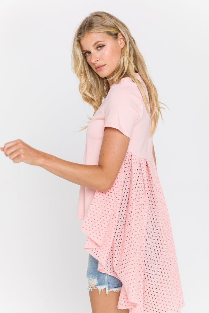 The Ivy Top (powder pink)