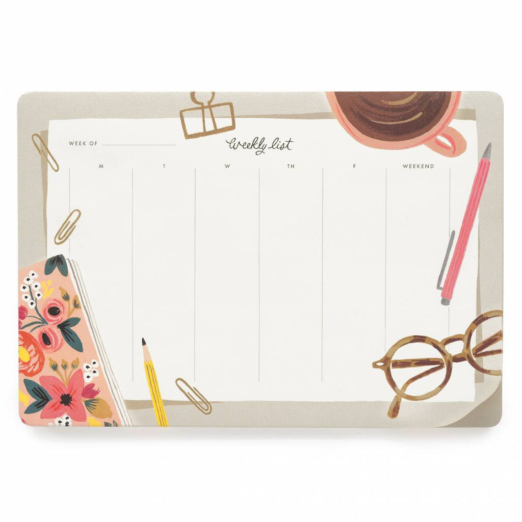 Weekly Desk Pads