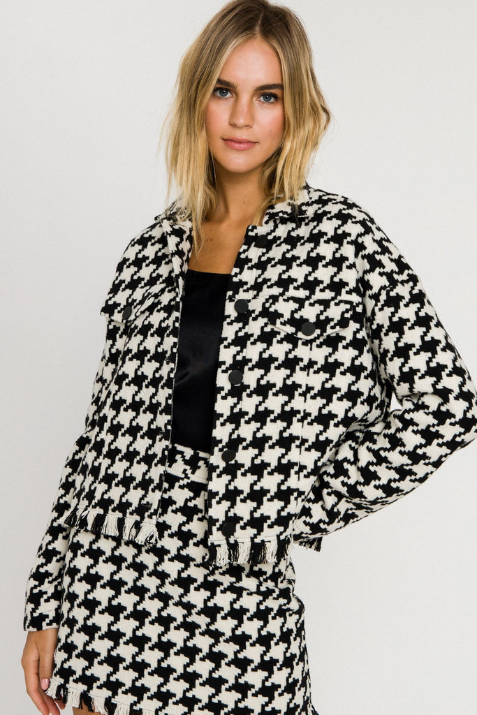 Queenie Houndstooth Coat
