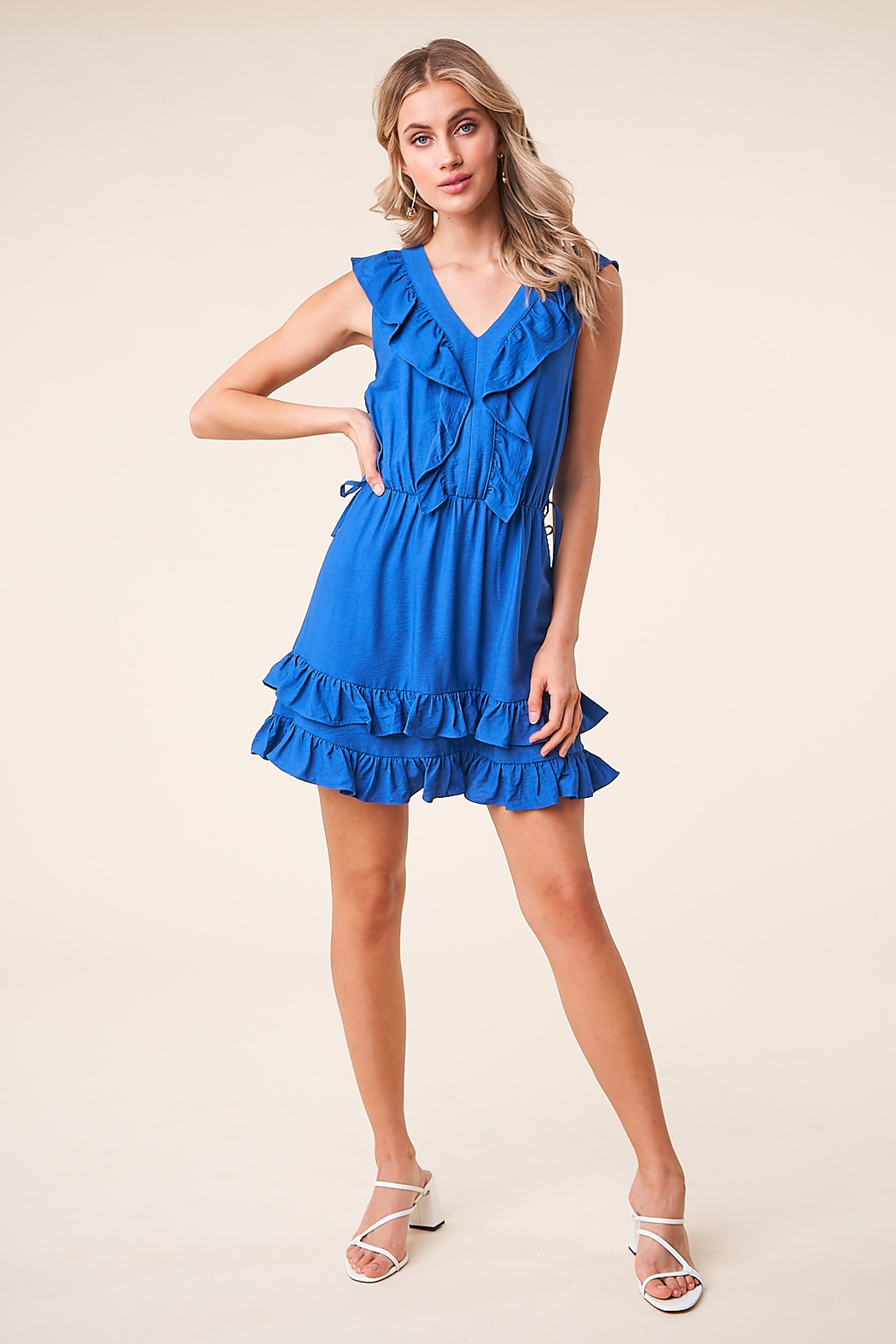 Sugar Lips - Nightshade Ruffle Mini Dress