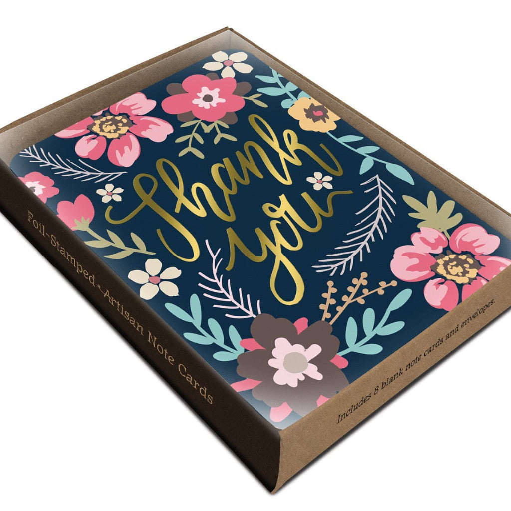 Midnight Garden Artisan Thank You Cards