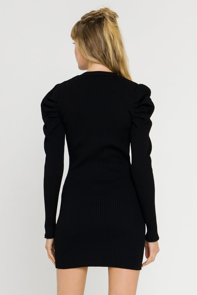 Sharp Shoulders Cardi Dress