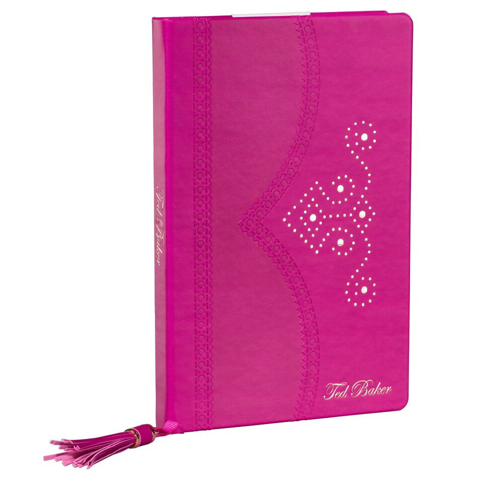 Bright Purple Brogue Bloom Notebook
