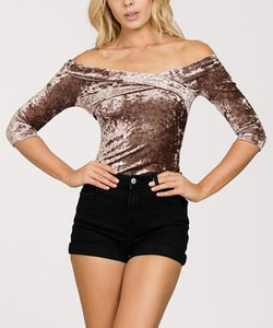 Ark & Co - Velvet Bodysuit