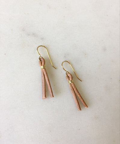 Lia Leather Earrings