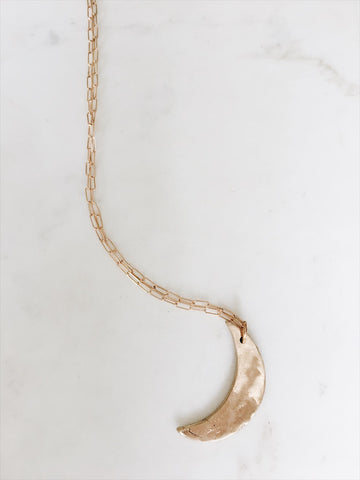 Bronze Moon Necklace