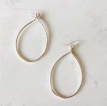 Load image into Gallery viewer, organic hoops, sterling