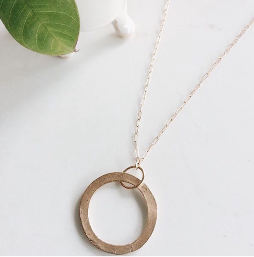 organic ring necklace