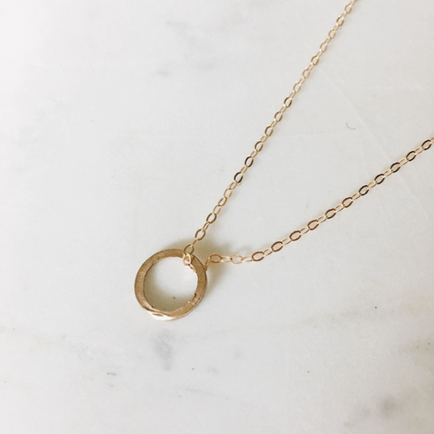 Petite Ring Necklace