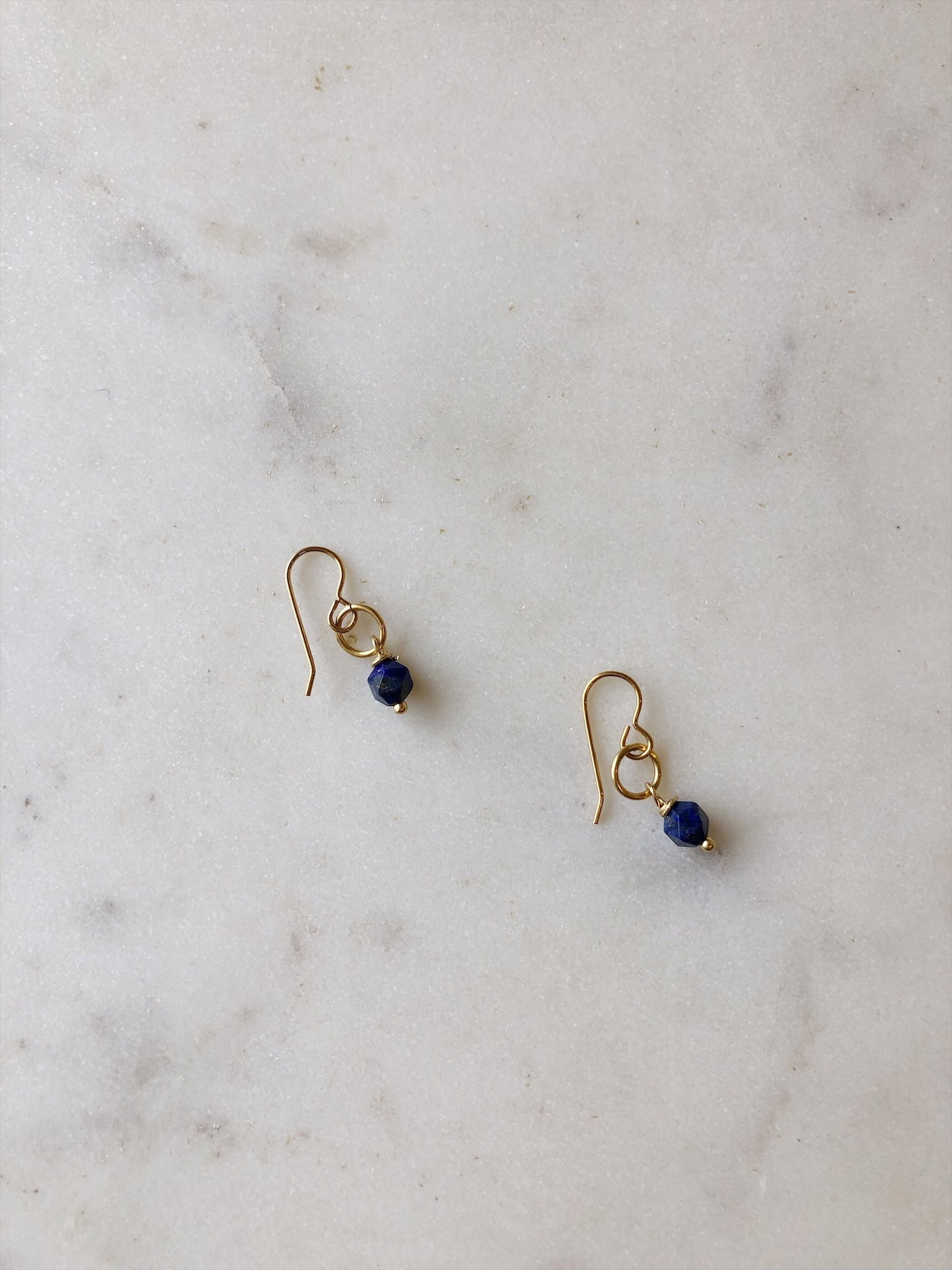 Lapis Star Earrings