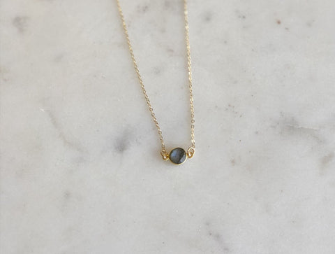 Petite Gemstone Necklace