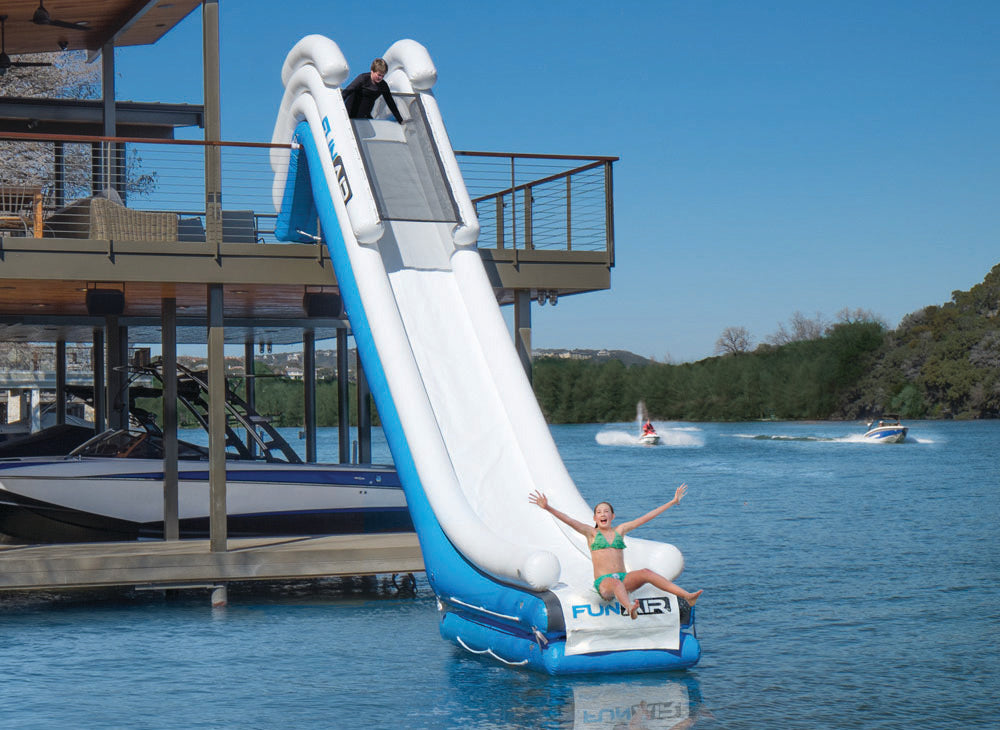 How to Determine If Your Dock Will Accommodate a FunAir Inflatable Dock Slide