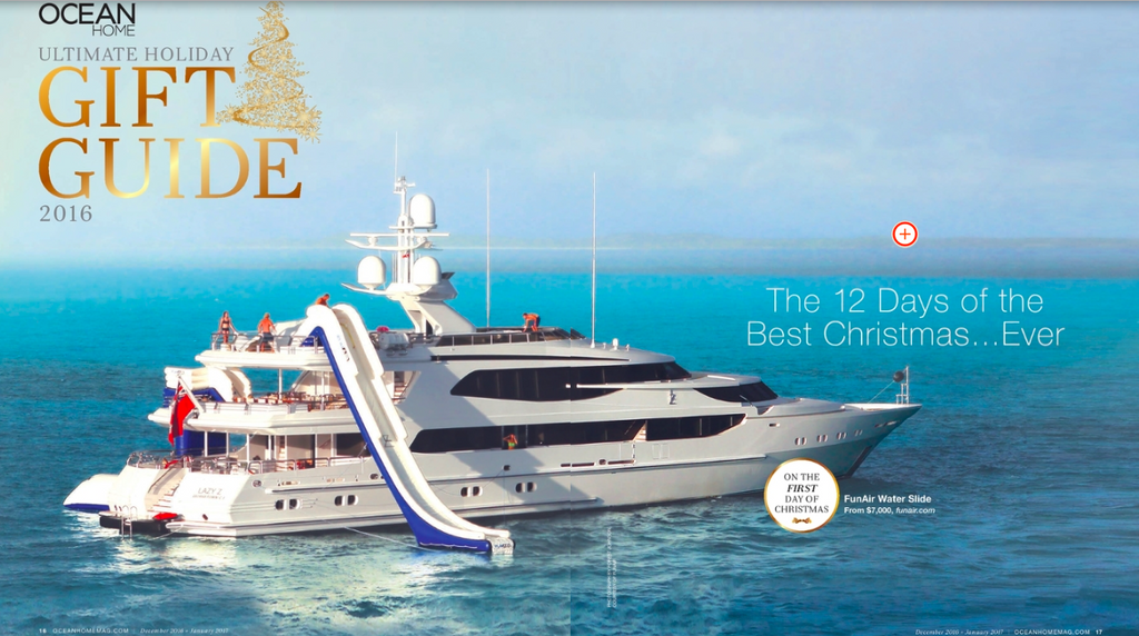 Ocean Home Magazine selects FunAir as the First Day of Christmas Gift