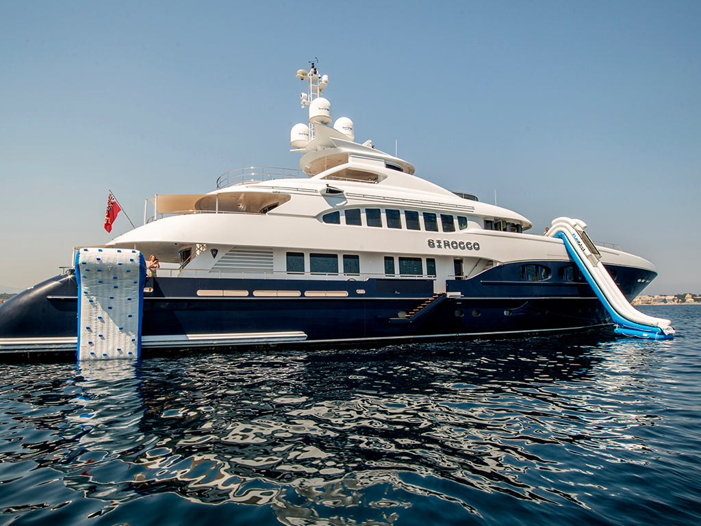 Image of superyacht Scirocco with FunAir Climbing Wall and Yacht Slide