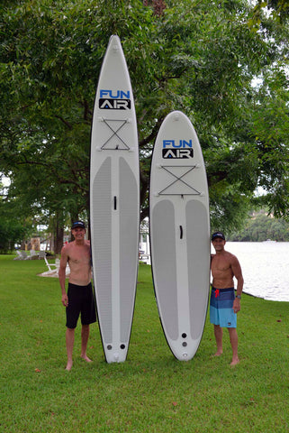 Inflatable SUP boards in touring and racing sizes and styles