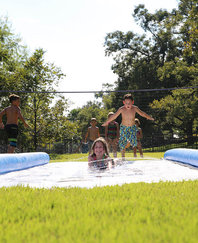 Summer Camp Water Slip and Slide fun