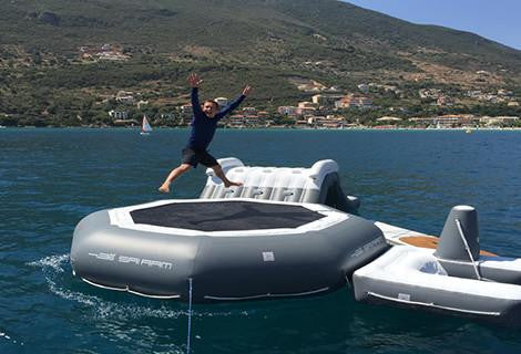 custom inflatable yacht toys, inflatable trampoline for yacht, inflatable yacht trampoline, inflatable yacht slides, inflatable toys for yachts
