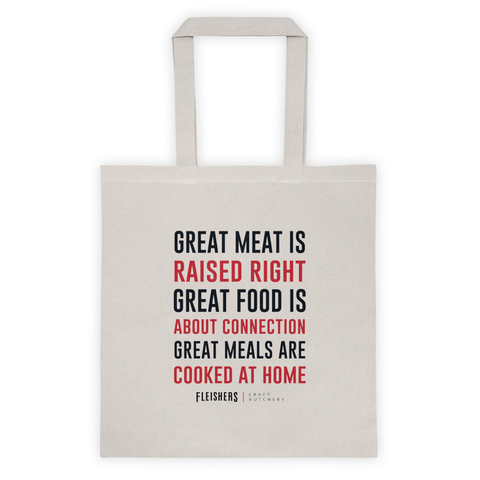 Great Meat Mantra Tote Bag