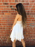 Crochet Boho Dress - B.L.U.S.H. Boutique