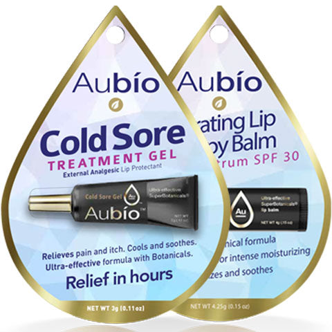 1+1 Combo Pack / Aubio's Cold Sore Treatment Gel & Hydrating Lip Therapy Balm