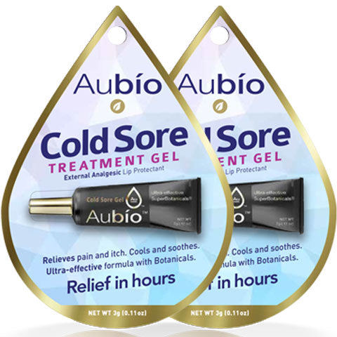 2 Pack Aubio's Cold Sore Treatment Gel - 0.11 oz each