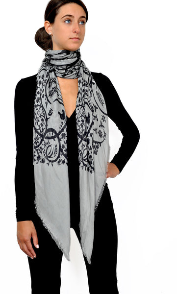 Action Against Hunger pashmina scarf - black